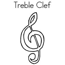 Free Treble Clef Coloring Page Preschool Music Lessons Music