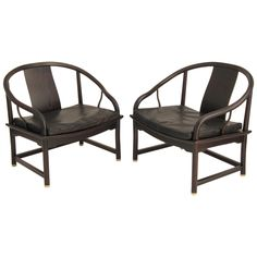 Pair of Lounge Chairs by Michael Taylor for Baker