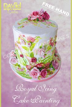 Cake Decorating Painting Icing : 1000+ images about Hand Painted Cakes on Pinterest Hand ...
