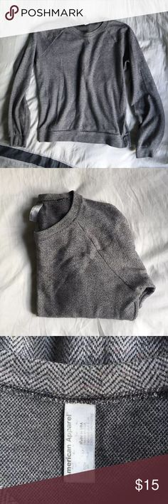 American Apparel Herringbone Crewneck Great condition, slouchy American Apparel versatile herringbone sweater. Perfect with skinnies and a pair of ankle boots!   Please let me know if you have any questions! Thanks (: American Apparel Sweaters Crew & Scoop Necks