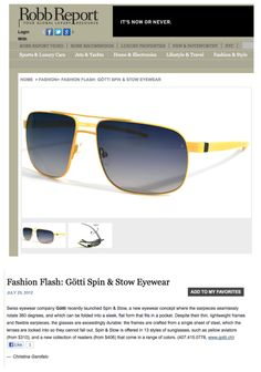 80af84fdd32 Robb Report features Gotti Switzerland sunglasses Style  Percy Color  Yellow