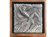 Art Deco Maurice Picaud Dancer Plaque | Vinterior London  #art #deco #onthewall