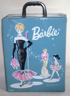 Vintage Barbie Doll Blue Double Case Trunk Wardrobe 1962 Ponytail Solo Spotlight. This is the one I had with the house and car!