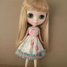 Floral Summer Dress for Blythe by myfairdolly on Etsy, $14.00