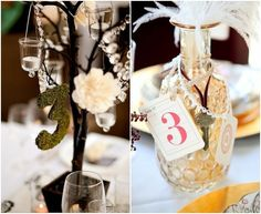 Creative, Personalized Wedding Reception Table Numbers