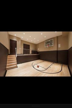 Really all I have to do is get a room with all hardwood and a backboard w/hoop. And someone to do the tape for the key, foul line, and three point line. I'm doing this when I get my own place