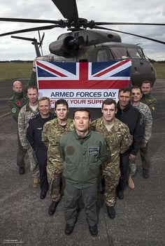 Servicemen and women from the UK, Germany and the USA are pictured with the Armed Forces Day flag at 1 Army Air Corps in Gutersloh, Germany. Time In Germany, British Armed Forces, British Army, Macro Photography, Ancestry, Ww2, Growing Up, Fighter Jets, Monster Trucks