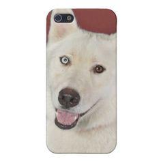 White Husky Smiles iPhone 5 Cases $55.95