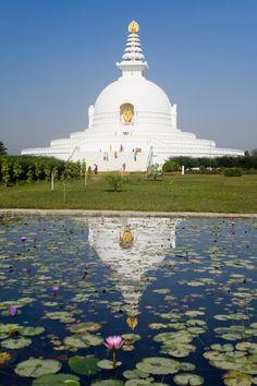 World Peace Pagoda -  Birthplace of Lord Buddha in Lumbini, Nepal