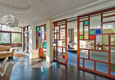 Four bedroom duplex apartment in the 1960s Dinerman, Davison & Hillman-designed Copper Beech in London N6