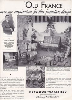 1931 Heywood Wakefield Furniture Gilbert Rohde Magazine Ad Advertisement | eBay