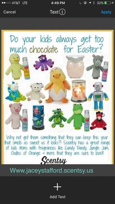 Your children, nieces, nephews, God-sons/daughters, grand babies, all children, are going to fall in love with our Scentsy Kids Line! An exclusive line of buddies, clips, warmers, diffusers and so much more! Www.jaceystafford.scentsy.us