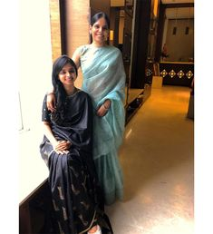 Want to know who to wear a netural shade saree? Do check out this post for styling tips and inspiration. Black Saree Designs, Saree Blouse Designs, Trendy Sarees, Fancy Sarees, Kurta Patterns, Blouse Patterns, Saree Models, Dress Models, Banarsi Saree