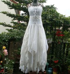 Finnaly payment for Lori. Fairy Wedding Dress Upcycled Clothing Tattered Romantic Dress Upcycled Womans Clothing Funky Eco Style