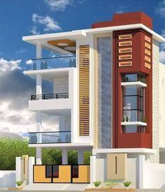 House Floor Design, House Outer Design, 3 Storey House Design, Two Story House Design, Modern Small House Design, House Outside Design, Modern Exterior House Designs, Bungalow House Design, Modern House Facades
