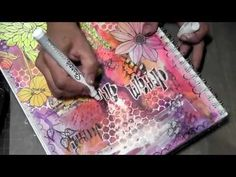 Art Journal page using lots of different products to give texture and dimension.