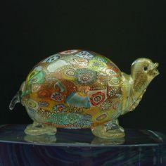 Сгорел Murrina и золото черепаха в муранского стекла - MuranoNet Интернет-магазин