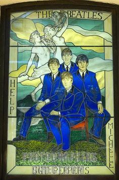 The Beatles Stained Glass Window, Hard Rock cafe-photographersdirect.com