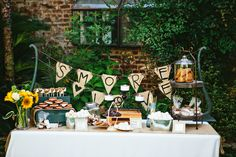 Rustic/vintage styled Haypenny S'more Buffet