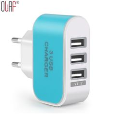 Adaptador de enchufe de la ue 3 puertos usb smart cargador de pared múltiple para xiaomi 5 v 3a led luz de carga rápida para el iphone 6 6 plus 6 s 5 5c 5S