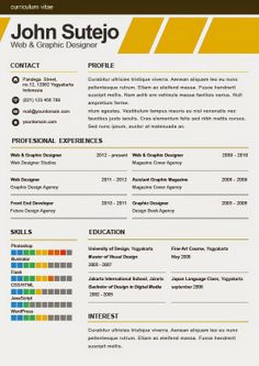 Personal Resume Template Design  Design Resume Cv Design And