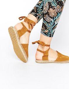 OAS Suede Sandal Espadrille Flat Shoes