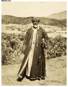Tribal chief - Muslim Eritrean man. Photo was taken in 1937.