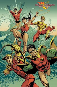1st generation teen titans by Jose Luis Garcia Lopez