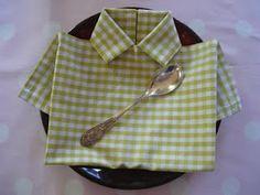 Pliage de serviette : chemise