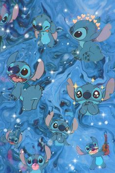 Blue Wallpaper Iphone, Disney Phone Wallpaper, Cartoon Wallpaper Iphone, Cute Cartoon Wallpapers, Disney Collage, Stitch Drawing, Cute Disney Drawings, Character Wallpaper, Cute Patterns Wallpaper