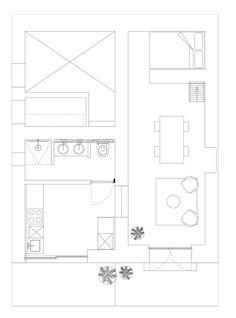 캄포, 바닥 계획에있는 작은 집