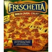 """Freschetta Pizza, Pepperoni, Brick Oven Crust 