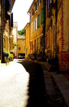 streets of Sablet, France