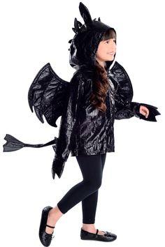 Dragon Hoodie Costume Girls Boys How to Train your night fury Childs 5 6 7 8 9 + #PrincessParadise #Hoodie