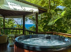 How's this for a romantic getaway in the #Caribbean? These private, low-key and personal villas at #Geejam in #Jamaica feature custom-made blackout blinds, #PhilippeStarck deluxe bathroom settings and private #Jacuzzi. It's no wonder why it attracts celebrity guests. // © 2015 TravelAge West/Geejam