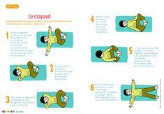 Le crapaud - Cette posture assouplie l'articulation des hanches et tonifie le ventre.                                                                                                                                                      Plus