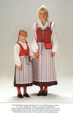 Kymenlaakso, Finland ( Traditional folk costumes ) Folk Costume, Costumes, 7 Continents, Traditional Clothes, Baltic Sea, Character Creation, My Heritage, Ethnic Fashion, People Around The World