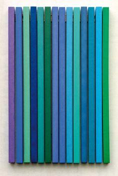 """Saatchi Art Artist: Thomas Kausel; Wood Installation """"14 Blue"""""""