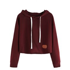 Hoodie Long Sleeve Casual Solid Hoodie (€14) ❤ liked on Polyvore featuring tops, hoodies, shirts, jackets, sweatshirts, long-sleeve shirt, red long sleeve shirt, red hoodies, shirt hoodies and red hoodie