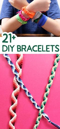 How many bracelets can you stack on your wrist? This huge list of DIY bracelets, complete with tutorials, will make you want to pile 'em on! Paper Crafts For Kids, Cardboard Crafts, Crafts For Teens, Jewelry Making Tutorials, Beading Tutorials, Armband Diy, Diy Fashion Accessories, Upcycled Crafts, Making Ideas