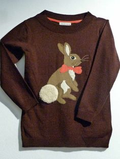 Cute intarsia knit bunny for girlswear at Marks and Spencer winter children's fashion preview