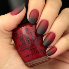 Halloween is almost here, hooray! So we've decided to get in the spooky spirit with a vamp-y matte mani in this week's Black and Red Ombre Nail Tutorial!