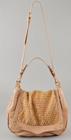 Rebecca Minkoff spiked leather nude bag