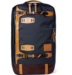 MASTER-PIECE Potential Convertible Leather And Suede-Trimmed Canvas Backpack   505 Canvas Backpack 03729424fe7ca