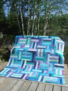 Popsicle Sticks Using Batik jelly rolls | Quilts | Pinterest ... : popsicle sticks quilt pattern - Adamdwight.com