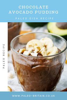Chocolate Avocado Pudding  #Paleo #food #recipe #keto #diet #ChocolateAvocadoPudding