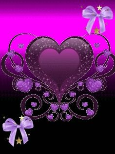 Purple Love, All Things Purple, Pink Purple, Purple Hearts, Heart Iphone Wallpaper, Love Wallpaper, Heart Images, Love Images, Animated Heart