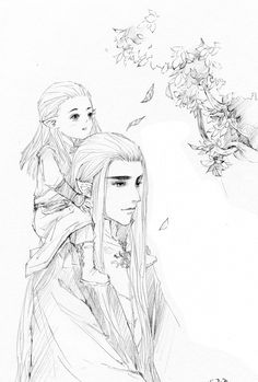 Thranduil and little Legolas by楚眠眠 #sorry i'm not sorry about my elf problem