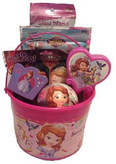 Disney Princess Sofia The First Bucket of Fun Set Perfect for Easter Basket Birthday Gift or any other Special Occassion * Find out more about the great product at the image link. Baby Dolls For Kids, Baby Girl Toys, Toys For Girls, Mario Halloween Costumes, Kids Toy Shop, Easter Baskets For Toddlers, Princess Birthday Party Decorations, Princess Sofia The First, Girl Gift Baskets