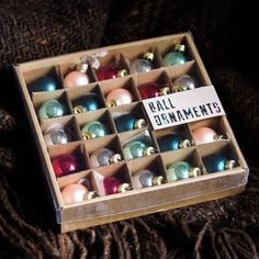 New little ball ornaments from @urbanoutfitters - couldn't resist those colors!
